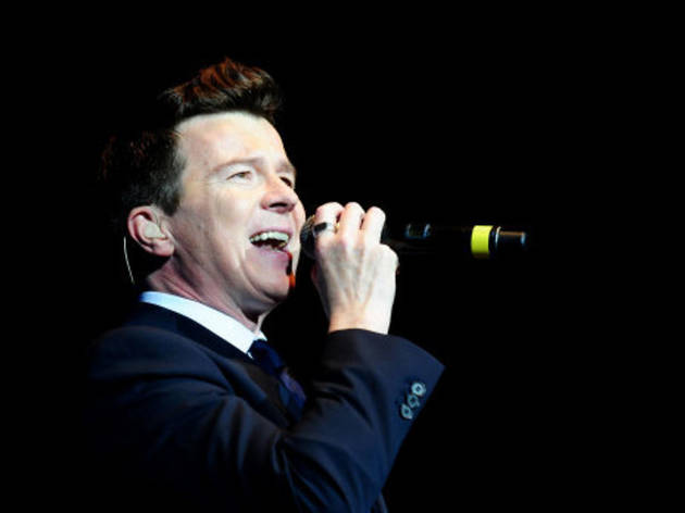 Rick Astley performs during the Hit Factory Live Christmas Cracker concert, at the O2 arena in London.