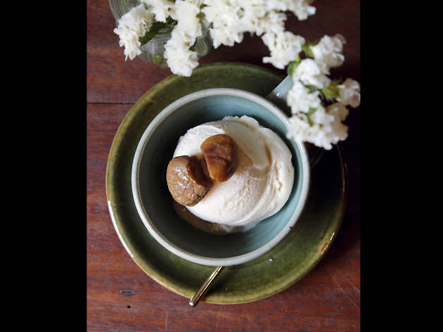 Chestnut ice cream at Farm to Table, Hideout