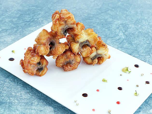 The Sky Boss's deep fried eel with honey sauce