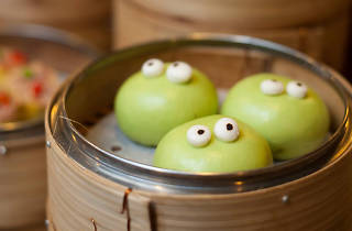 Yum Cha's green tea custard molten buns