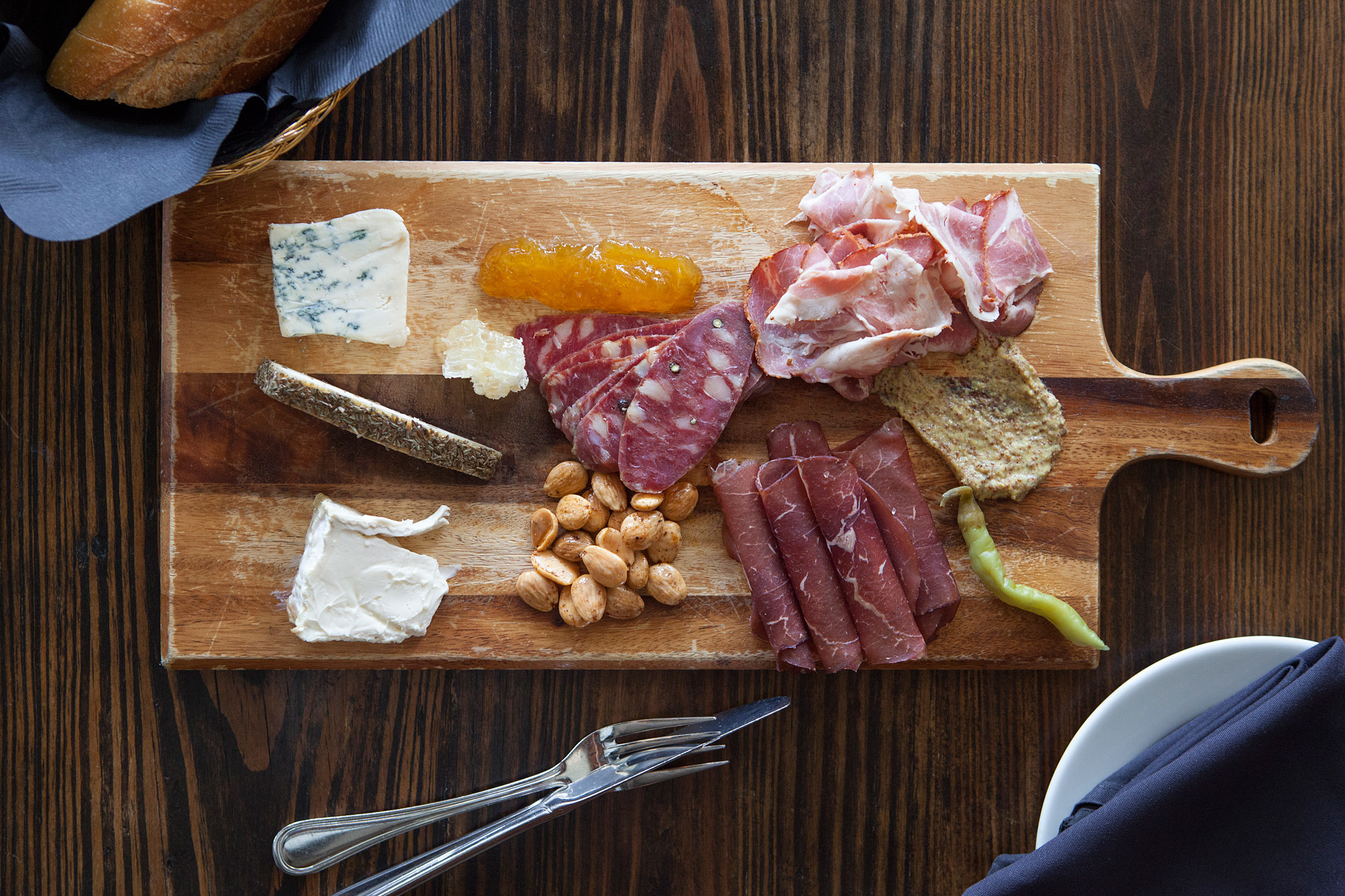 Mix and match cheese and charcuterie at Augustine