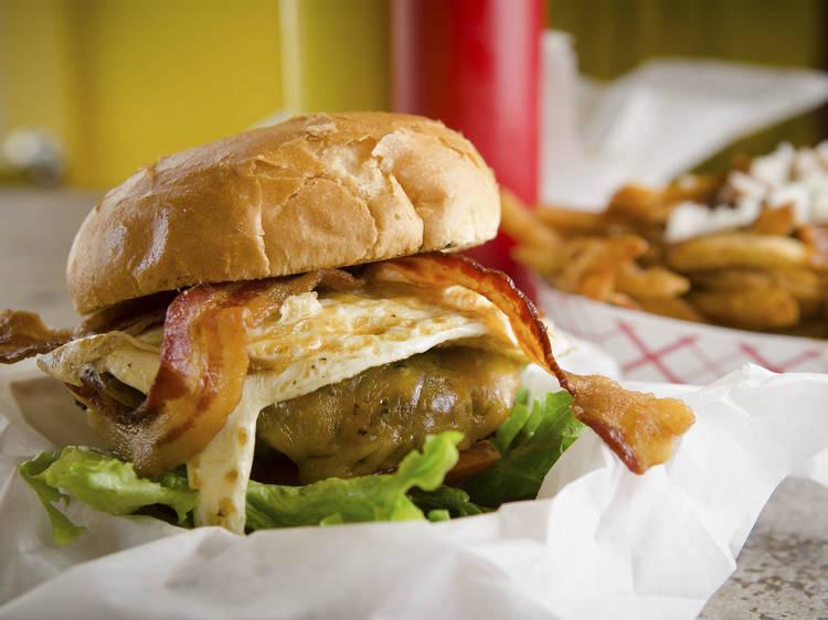 8 oz. Char Burger at Edzo's Burger Shop