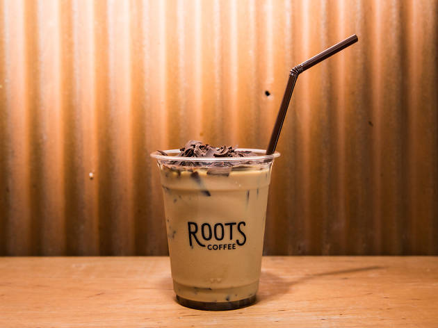 a great coffee at Roots Coffee Roaster