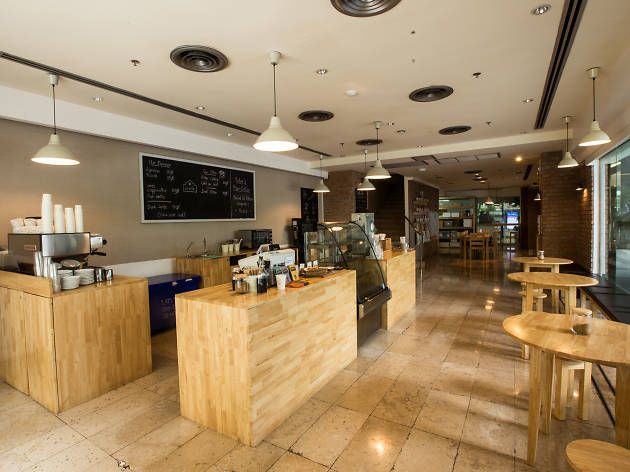 coffee bar at Ceresia Coffee Roasters