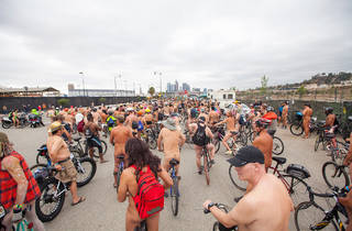 World Naked Bike Ride Los Angeles 2016