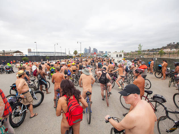 World Naked Bike Ride Los Angeles 2016 photos