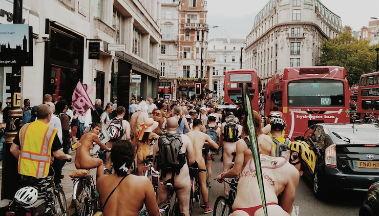 Bum rush: photos of the World Naked Bike Ride in London