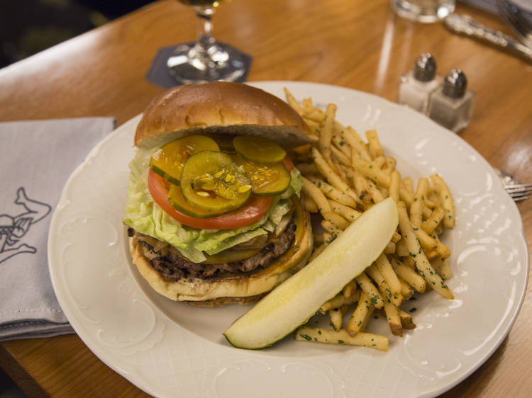 CCR Prime Triple Cheese Burger at Cherry Circle Room