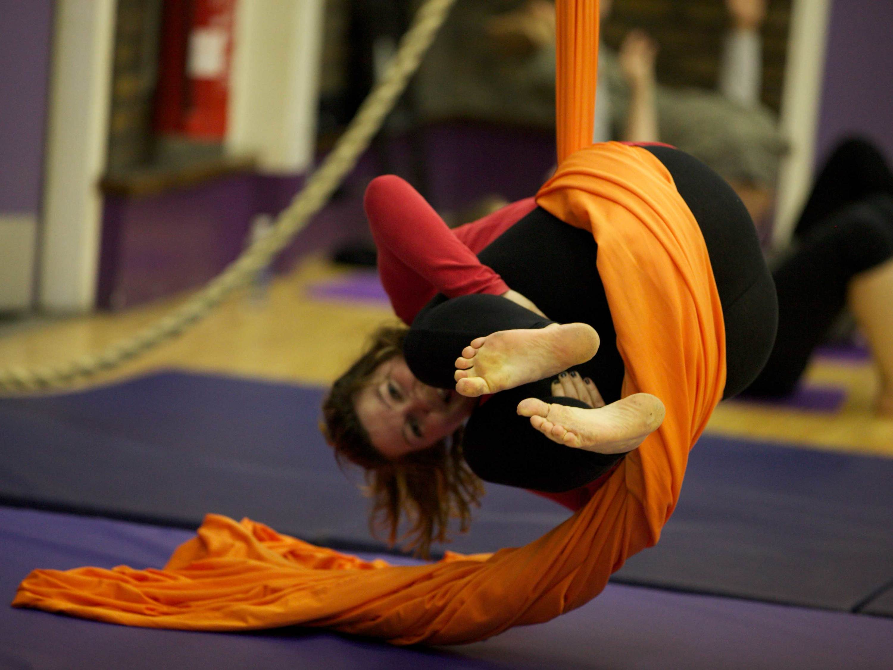 London's alternative fitness classes, ariel skills