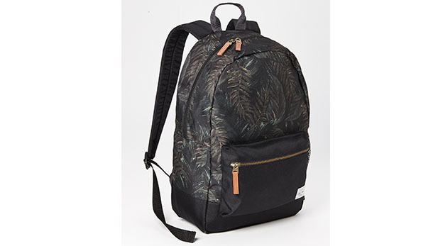 Patterned Canvas backpack