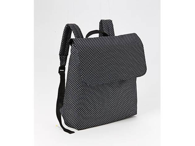 Polka-Dot Canvas backpack