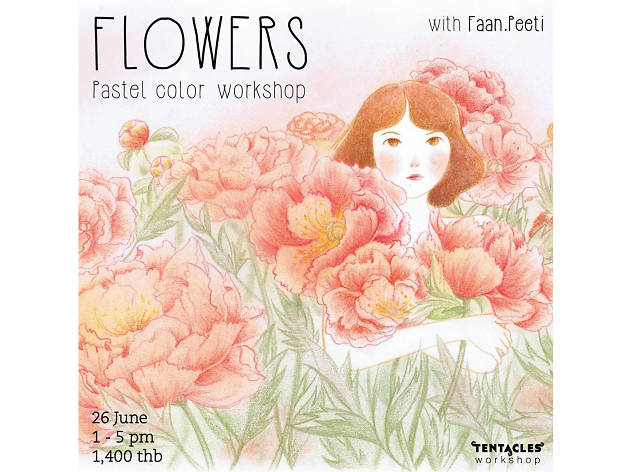 Pastel color workshop: Flower