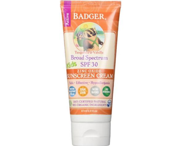 Badger Kids Sunscreen Cream, SPF 30