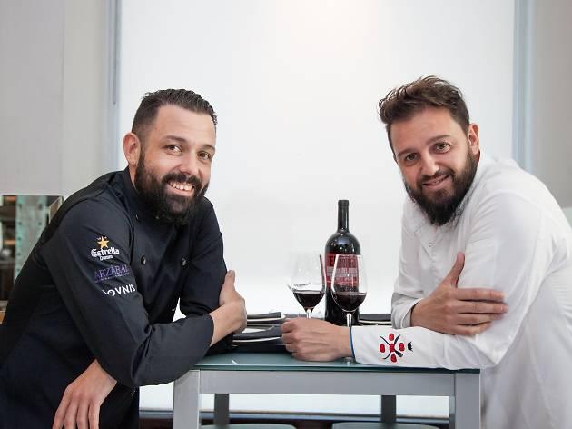 Álvaro Castellanos e Iván Morales. Grupo Arzábal