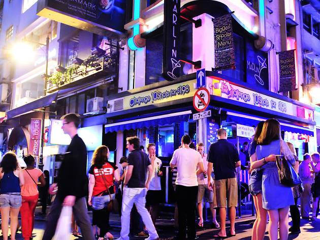 Knock 'em back during happy hour in Lan Kwai Fong
