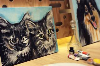 Taller Pinta a tu mascota, impartido por Linda Jácome