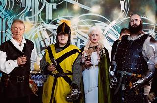 People dressed up as Game of Thrones characters for Game of Rhones