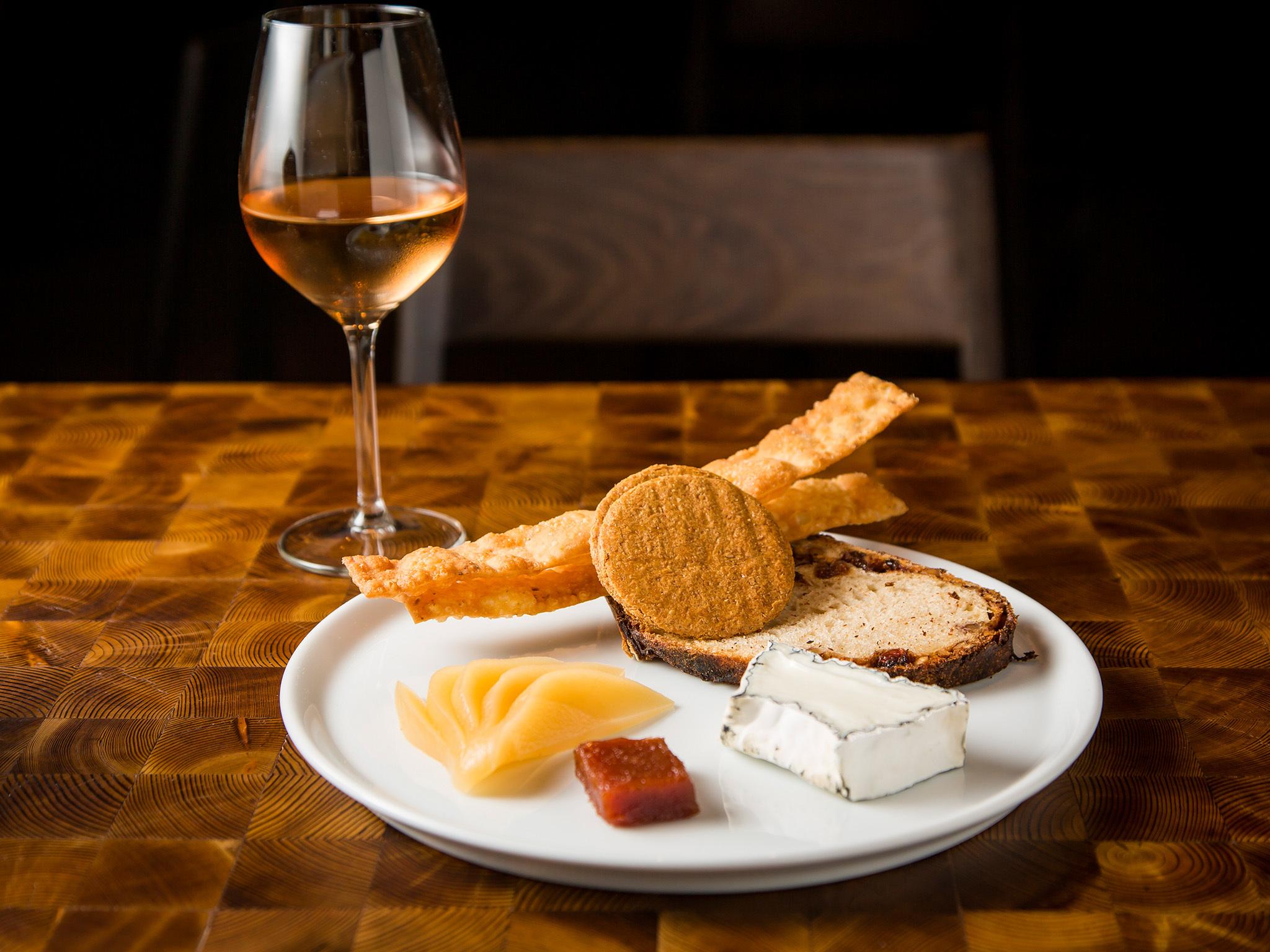 Wine and cheese at Mercado