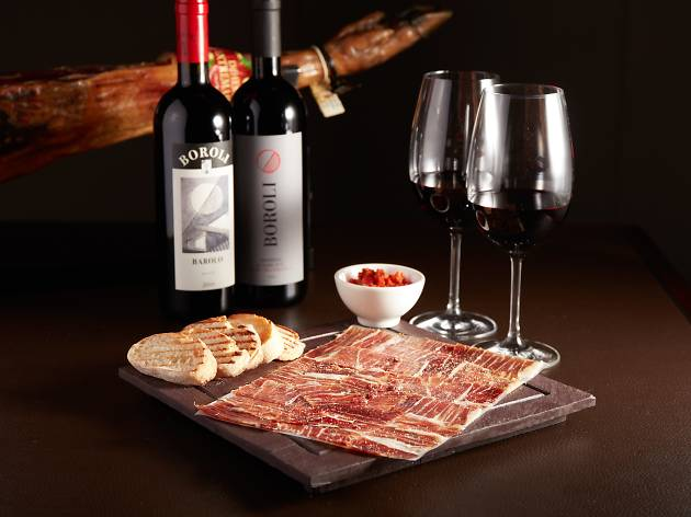 Mini gastronomic food and wine festival - jamon