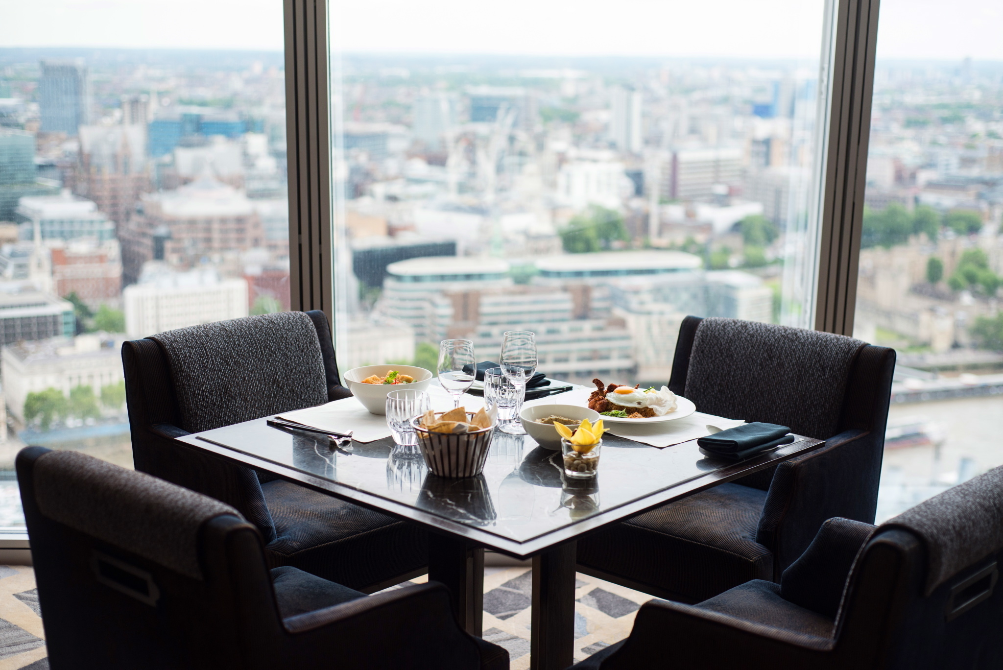 best restaurants with a view, ting at the shard