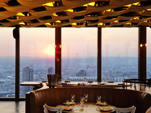 best restaurants with a view in london, duck and waffle