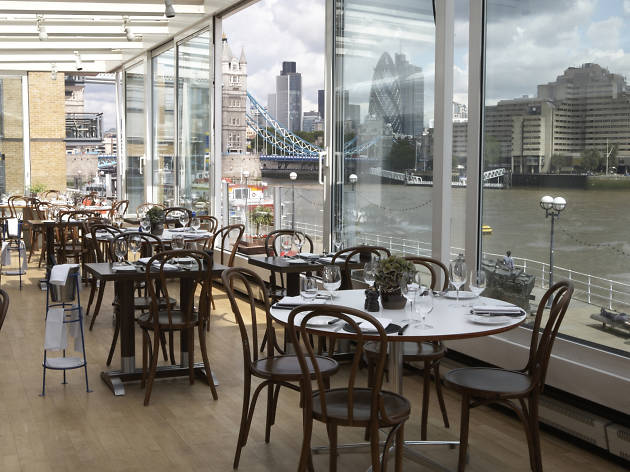 best restaurants with a view in london, blueprint cafe