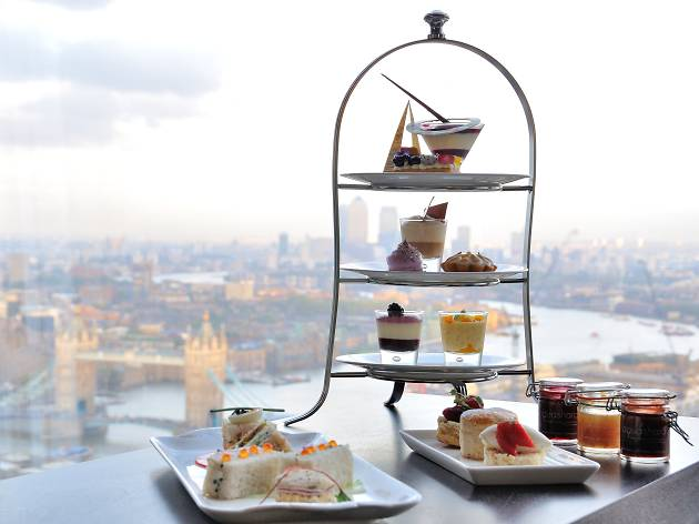 restaurants with a view in london, aqua shard