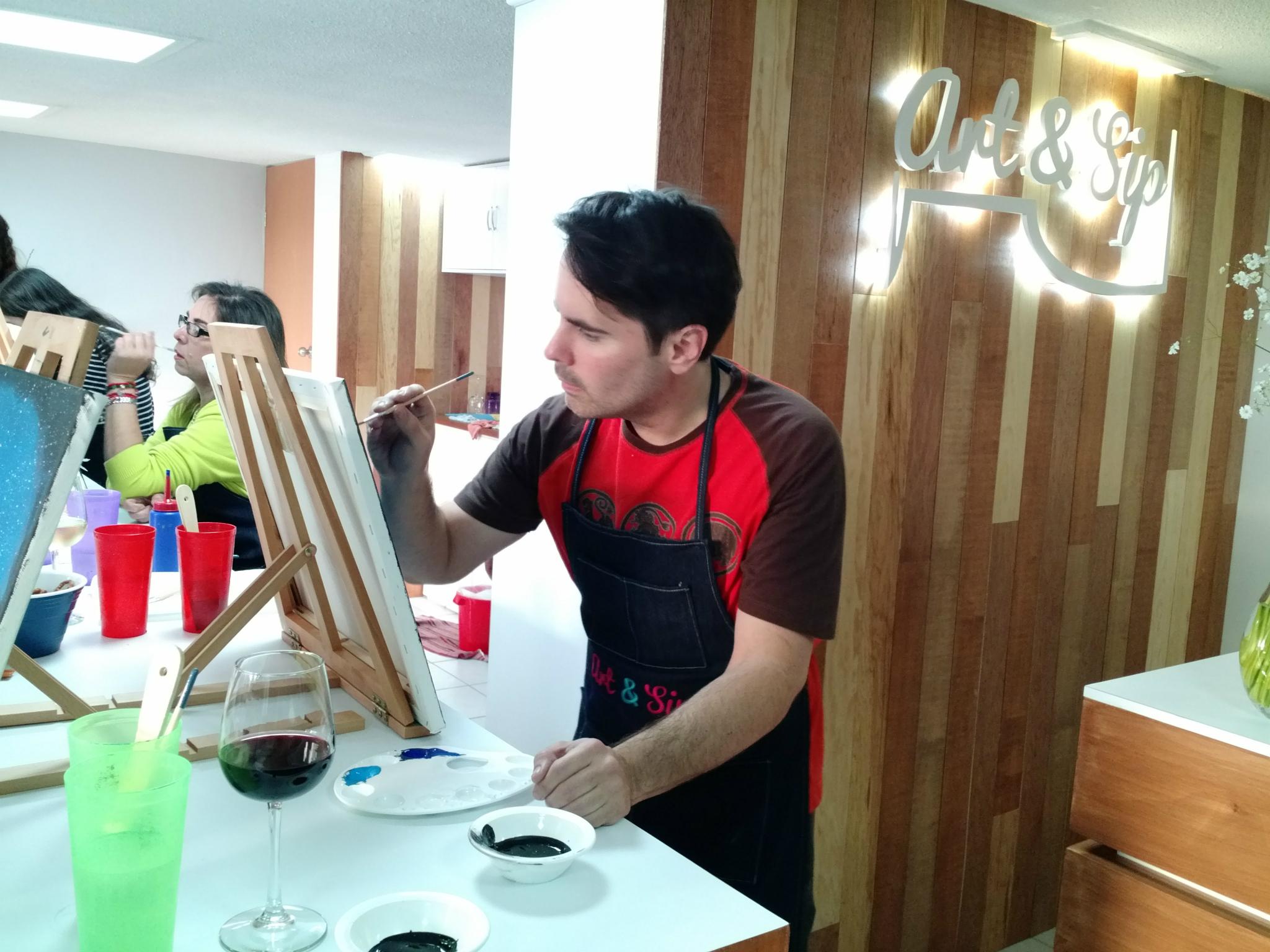 Art&Sip, clases de pintura tomando vino
