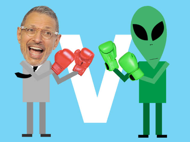 Jeff Goldblum v the aliens
