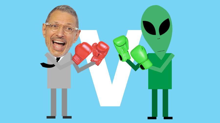 Jeff Goldblum v the aliens