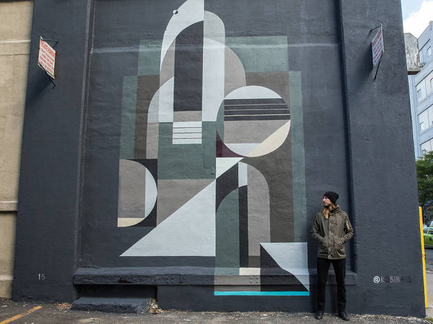 Check out cool abstract street art from Brooklyn artist Rubin