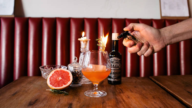 Carlisle Wine Bar grapefruit mocktail