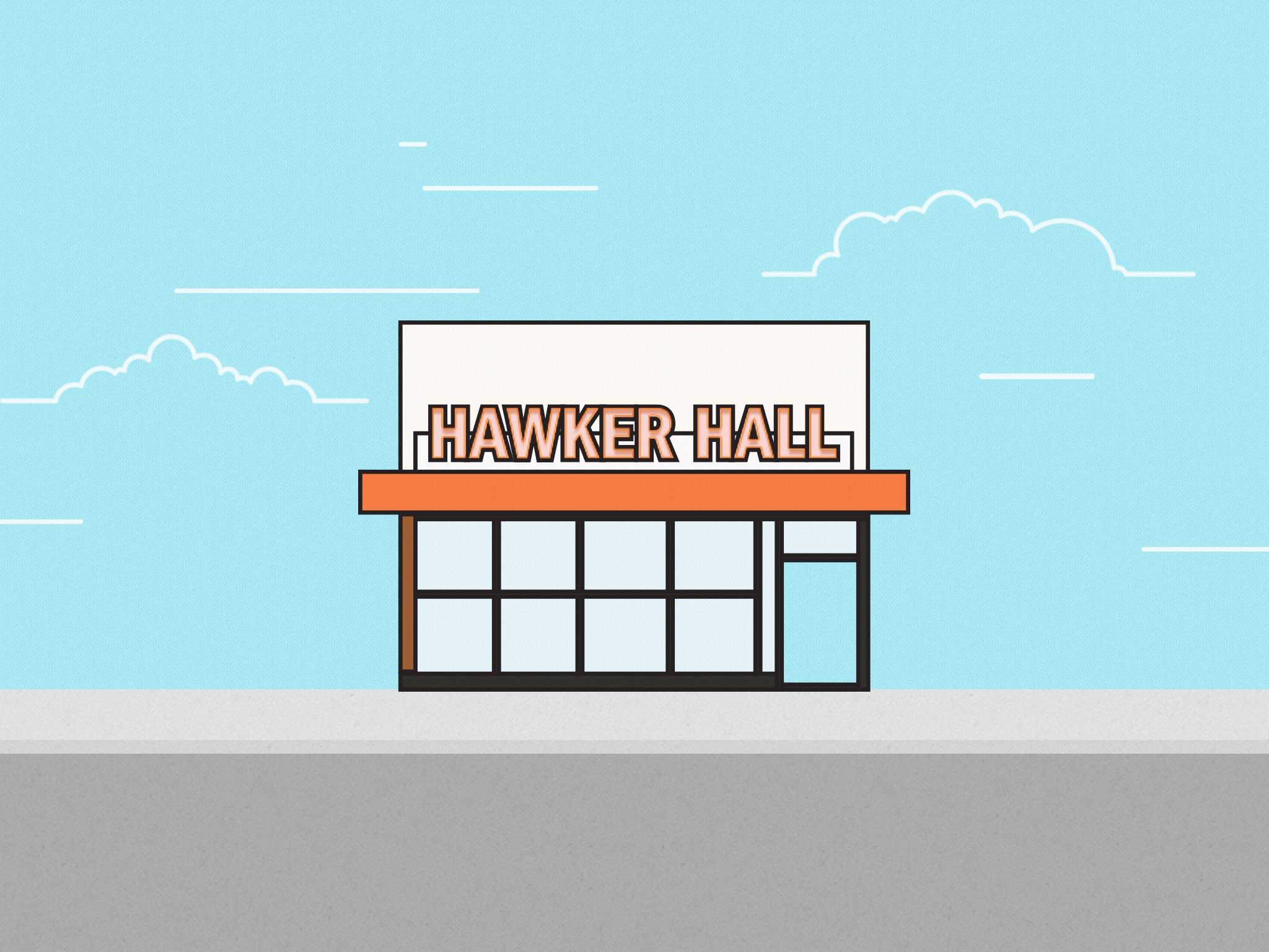 Hawker Hall Illustration