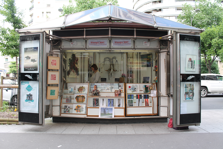 Kiosqu'ART: la plus petite galerie d'art de Paris
