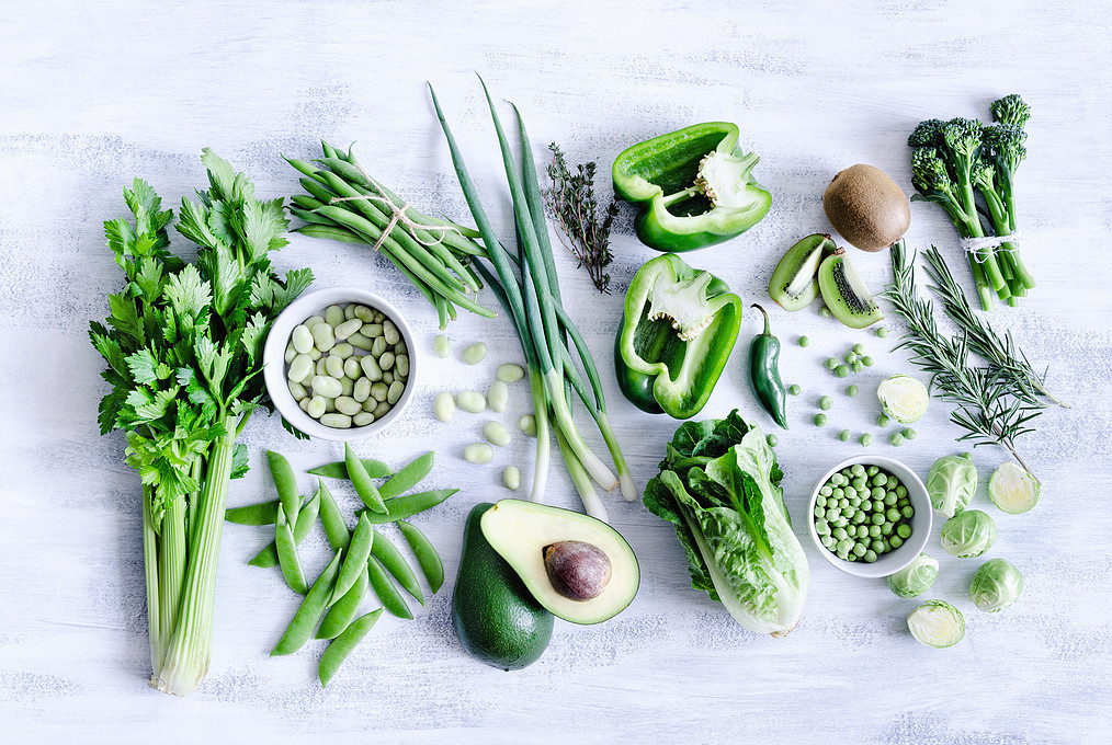 Vegetables and green foods