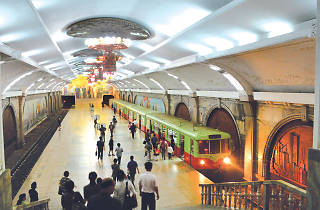 A Pyongyang metro station