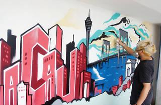 Macau street art crew Gantz5 adds a colourful touch to the revitalisaton of Nam Van Lake