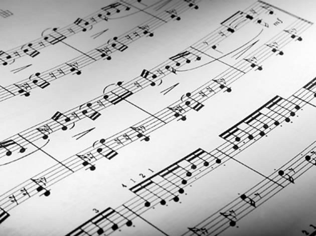 Musique, partition, illustration