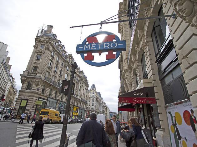 Quartier Sentier 24h métro bouche