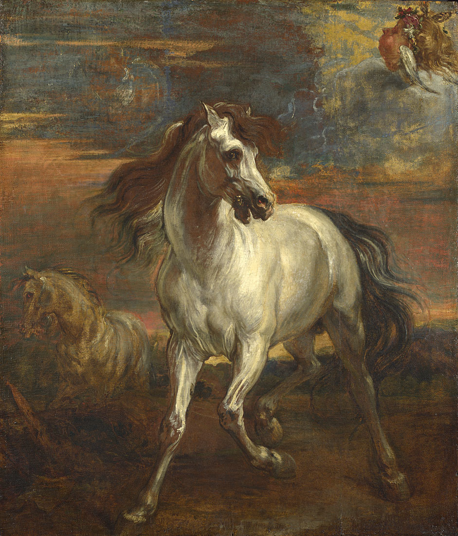 (Style of Anthony van Dyck, The Horses of Achilles)