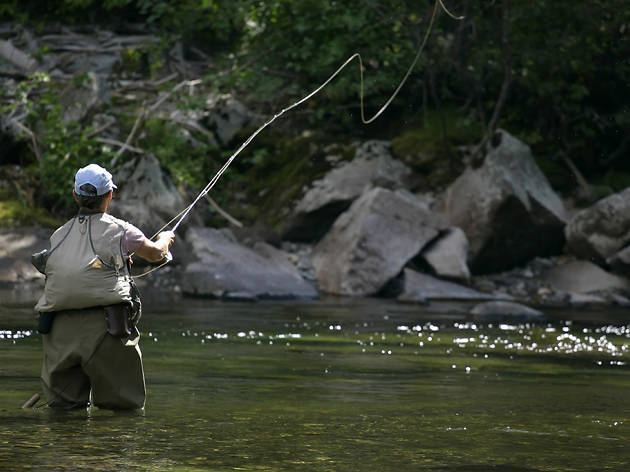 Fly-fishing in Boulder River, MT