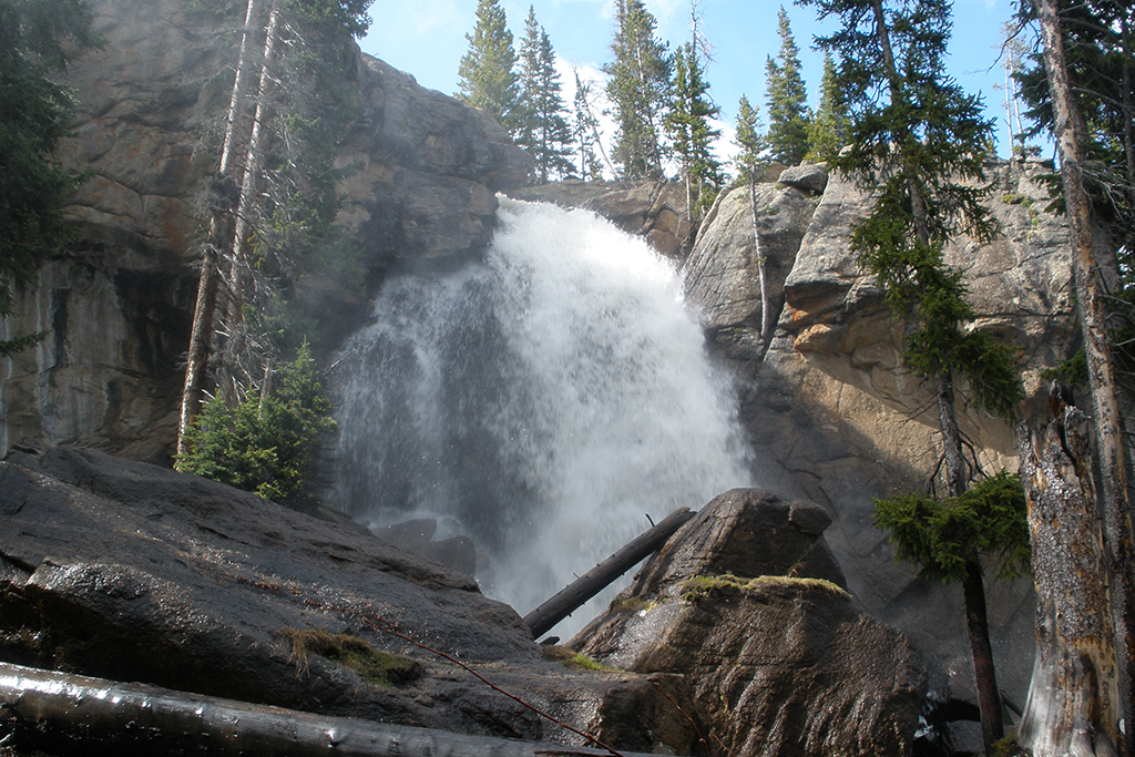 Ouzel Falls in the Rocky Mountains, CO