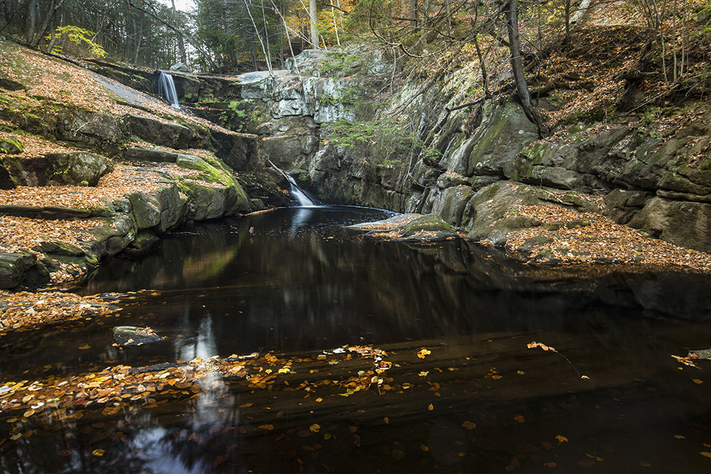 Enders Falls in Granby, CT
