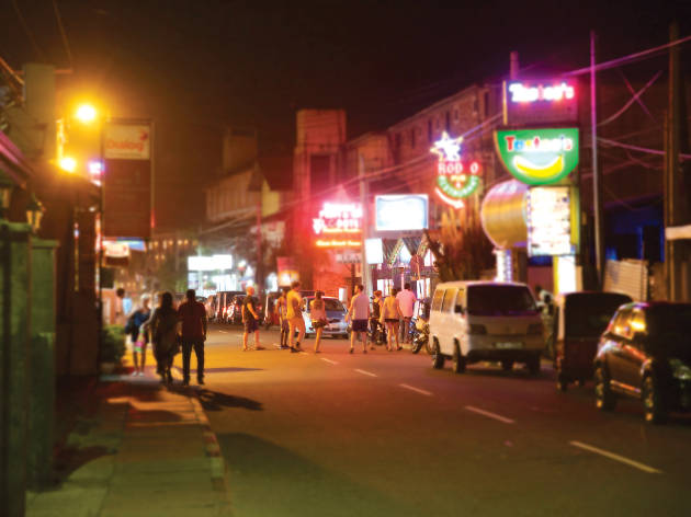 Evening on Lewis Street in Negombo
