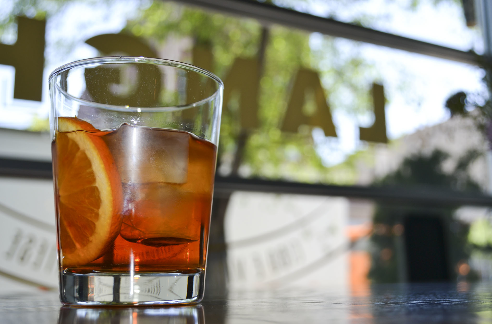 Negroni Classico at Osteria Langhe