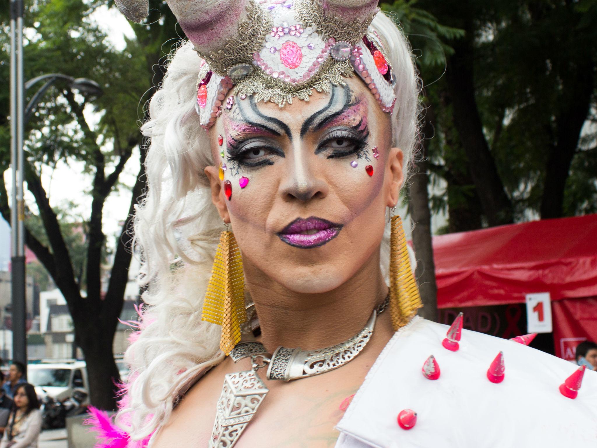 Drag en la Marcha del Orgullo LGBTTTI en la CDMX