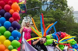 Colores en la Marcha del Orgullo LGBTTTI en la CDMX