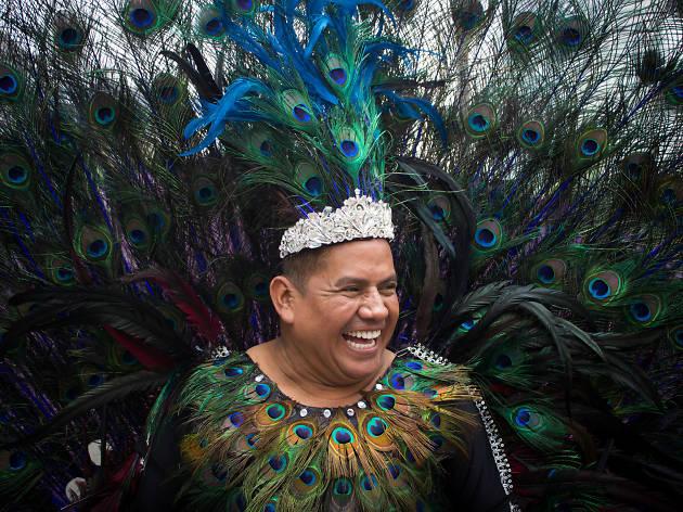 Un paveoreal en la Marcha del Orgullo LGBTTTI en la CDMX