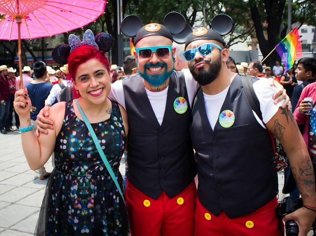 Johnny Carmona en la Marcha del Orgullo LGBTTTI en la CDMX