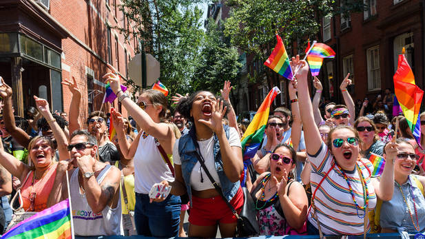 Hillary Clinton marches in NYC pride parade in a surprise appearance
